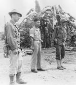 Major Richard Young, Major General Pan Yukun, and Lieutenant General Joseph Stilwell, Myitkyina, Burma, 18 Jul 1944
