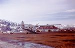United States Coast Guard PBY-5A Catalina with Patrol-Bombing Squadron 6 on the ramp at Bluie West One air strip, Narsarssuak, Greenland (now Narsarsuaq), 1943.