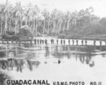 US Marines crossing Lunga River, Guadalcanal, late 1942