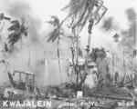 Destroyed Japanese building and equipment, Kwajalein, Marshall Islands, Jan-Feb 1944