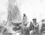 US Marine 75mm howitzer team, Tarawa, Gilbert Islands, 20-23 Nov 1943