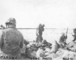 US Marines at Tarawa, Gilbert Islands, late Nov 1943