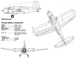 Specifications for the Vought OS2U-3 Kingfisher, 1942.