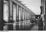 Marble gallery of the New Reich Chancellery, Berlin, Germany, 10 Jan 1939