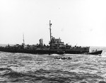 Destroyer Escort USS Pillsbury alongside the captured U-505 off the West African coast, 4 Jun 1944