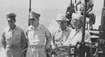 General Douglas MacArthur traveling by PT-Boat across Leyte Gulf off Tacloban, Philippines aboard PT-525, an Elco 80-foot PT-Boat of Motor Torpedo Boat Squadron 36 (PTRon-36), 24 Oct 1944.