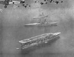 Kaga, Hiei, and Nagato during the annual naval review at Yokohama, Japan, 25 Aug 1933