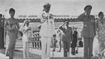 King Rama IX of Thailand and President Chiang Kaishek of the Republic of China at Songshan airport, Taipei, Taiwan, Republic of China, early Jun 1963