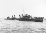 French destroyer Milan beached at Casablanca, French Morocco, 16 Nov 1942 after being damaged in the Battle of Casablanca 8 Nov 1942.
