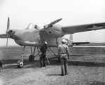 TDN-1 attack drone ready for its first (piloted) flight at Traverse City, Michigan, United States, 19 May 1943. The pilot was Lieutenant C.C. Corley.