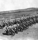 K800 motorcycles of Chinese Army still-in-training Armored Regiment, Nanjing, China, circa 1937