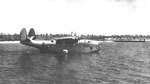 The squadron commander's plane, a rare PBM-1D variant, with Patrol Squadron VP-55 flying Neutrality Patrols, probably at Jacksonville, Florida, United States, 1941.