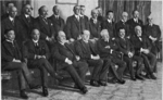 Members of the League of Nations commission, Paris, France, Feb-Apr 1919, photo 1 of 2; note Woodrow Wilson and V. K.