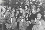 Milton Miles and Dai Li with war orphans, China, Dec 1945