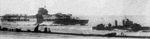 HMS Glorious and HMS Diana, Norwegian Sea, May 1940; photo taken from HMS Ark Royal