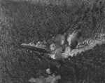 HMS Exeter under attack during Battle of Java Sea, 1 Mar 1942