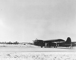 Waco CG-4A glider and C-47 Skytrains on the Big Springs Auxiliary Air Field, Big Springs, Texas, United States, 1942.