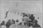 Wang Jingwei arriving at Ming Palace Airport, Nanjing, China, 18 Jan 1937, photo 1 of 2