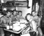 Swimmers aboard USS Burrfish, 1943-1944