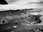 Overhead view of Pearl Harbor Naval Base, Oahu, Hawaii, 30 Oct 1941, 5 weeks before the attack. Photo 2 of 2.