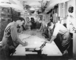 Navy Operations Room aboard USS Ancon while at Oran, French Algeria, 3 Jul 1943