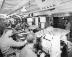 Joint Operations Room aboard USS Ancon while at Oran, French Algeria, 3 Jul 1943