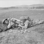 2-inch mortar team of UK Royal Scots Fusiliers, Scotland, United Kingdom, 27 Aug 1942