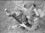Norwegian Brigade 2-inch mortar team in training, Dumfries, Scotland, United Kingdom, 27 Jun 1941