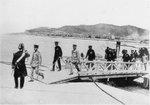 Crown Prince Hirohito arriving at Kirun, Taiwan, 16 Apr 1923