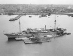 USS Holland with submarines V-3, V-2, S-45, S-43, S-44, and S-42, San Diego, California, United States, circa 1930