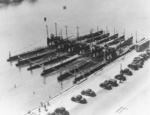 Submarines S-46, S-43, S-47, S-42, S-44, and S-45 at Naval Base Coco Solo, Panama Canal Zone, 1936