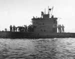 USS S-44 at sea, 8 Feb 1943, photo 1 of 2