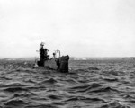 USS S-44 at sea, 8 Feb 1943, photo 2 of 2