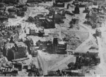 Nijmegen, the Netherlands in ruins, 1945; note Augustine and Dominicus churches in center and the clearing that would later become Plein 1944 square