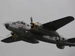 B-25 Mitchell bomber in flight, Reading Regional Airport, Pennsylvania, United States, 3 Jun 2018, photo 1 of 3