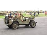 Re-enactors in a Jeep, Reading Regional Airport, Pennsylvania, United States, 3 Jun 2018
