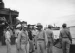 Admirals William Halsey and Raymond Spruance aboard USS New Mexico, 27 May 1945