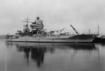 USS New Mexico at the Puget Sound Navy Yard, Bremerton, Washington, United States, 24 Apr 1940