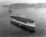 USS Langley, USS Mississippi, USS New Mexico, and others at anchor off Culebra island, Puerto Rico, 18 Mar 1926
