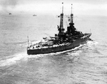 USS New Mexico underway, 8 Jul 1921