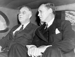 Franklin Roosevelt and Harry Hopkins, Rochester, Minnesota, United States, 11-14 Sep 1938