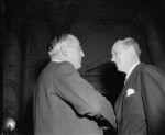 Arthur Vandenberg and Harry Hopkins at the Capitol Building, Washington, United States, 11 Jan 1939