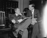 Harry Hopkins and Aubrey Williams at the Capitol Building, Washington, United States, 20 Apr 1938
