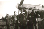 Stefanica Paunescu with squadron mates, 1940s, photo 3 of 6