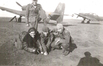 Stefanica Paunescu with squadron mates, 1940s, photo 6 of 6