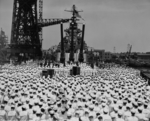 Commissioning ceremony of USS New Jersey, Philadelphia Navy Yard, Pennsylvania, United States, 23 May 1943, photo 03 of 25