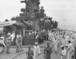 Commissioning ceremony of USS New Jersey, Philadelphia Navy Yard, Pennsylvania, United States, 23 May 1943, photo 04 of 25