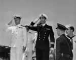 Commissioning ceremony of USS New Jersey, Philadelphia Navy Yard, Pennsylvania, United States, 23 May 1943, photo 23 of 25