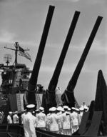 Commissioning ceremony of USS New Jersey, Philadelphia Navy Yard, Pennsylvania, United States, 23 May 1943, photo 13 of 25