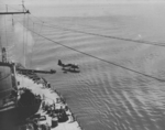Kingfisher aircraft being launched from a catapult aboard USS New Jersey, date unknown